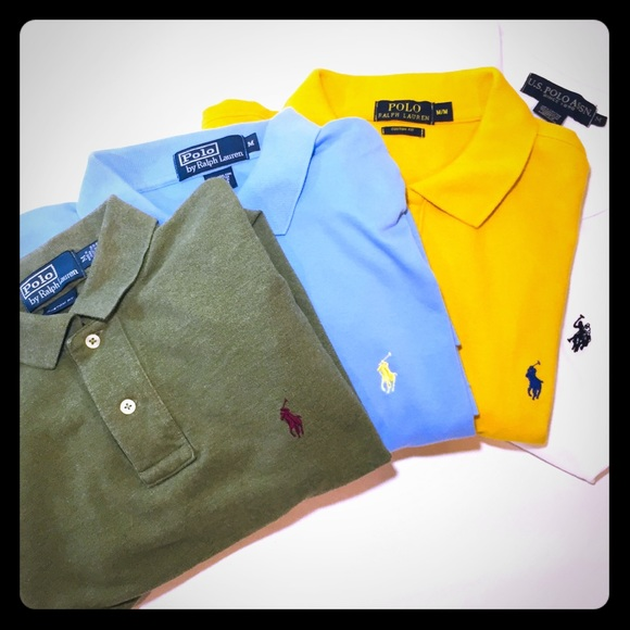 888d7b397 Polo by Ralph Lauren Shirts | 4 X Uspa Shirt Lot Mustard | Poshmark